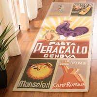 """Safavieh Hand-hooked Vintage Poster Sage Wool Rug - 2'6"""" x 6'"""