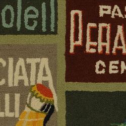 Safavieh Hand-hooked Vintage Poster Sage Wool Rug (2'9 x 4'9)