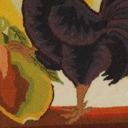 Safavieh Hand-hooked Vintage Poster Sage Wool Rug (3' Round)