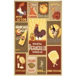 Safavieh Hand-hooked Vintage Poster Sage Wool Rug (5'3 x 8'3)