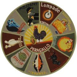 Safavieh Hand-hooked Vintage Poster Sage Wool Rug (5'6 Round)