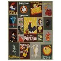 Safavieh Hand-hooked Vintage Poster Sage Wool Rug - 7'6 x 9'9