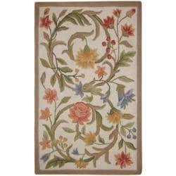 Safavieh Hand-hooked Garden Scrolls Ivory Wool Rug (2'6 x 4')