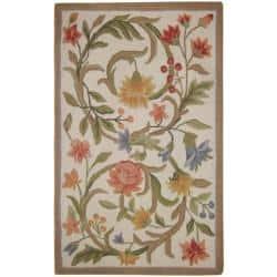 Safavieh Hand-hooked Garden Scrolls Ivory Wool Rug (2'9 x 4'9)|https://ak1.ostkcdn.com/images/products/6962296/80/289/Hand-hooked-Garden-Scrolls-Ivory-Wool-Rug-29-x-49-P14476738.jpg?impolicy=medium
