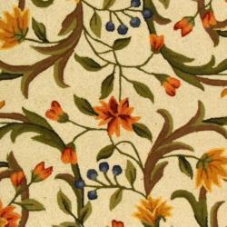 Safavieh Hand-hooked Garden Scrolls Ivory Wool Rug (6' x 9') - Thumbnail 2
