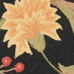 Safavieh Hand-hooked Garden Scrolls Black Wool Rug (3' Round)