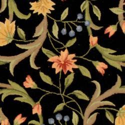 Safavieh Hand-hooked Garden Scrolls Black Wool Rug (8'9 x 11'9) - Thumbnail 2