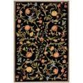 Safavieh Hand-hooked Garden Scrolls Black Wool Rug - 8'9 X 11'9