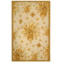 Safavieh Hand-hooked Garden Ivory/ Gold Wool Rug (2'9 x 4'9)