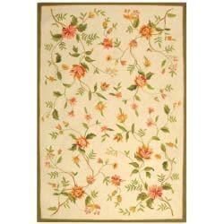 Safavieh Hand-hooked Garden Ivory Wool Rug (7'6 x 9'9)