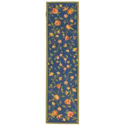 Safavieh Hand-hooked Garden Blue Wool Rug (2'6 x 8')