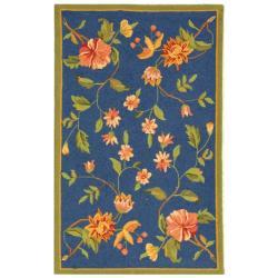 Safavieh Hand-hooked Garden Blue Wool Rug (2'9 x 4'9)