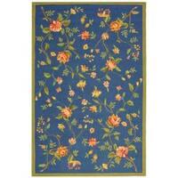 Safavieh Hand-hooked Garden Blue Wool Rug - 8'9 X 11'9