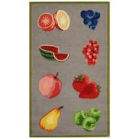 Safavieh Hand-hooked Chelsea Fruits Grey Wool Rug (2'6 x 4') - 2'6 x 4'