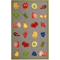 "Safavieh Hand-hooked Chelsea Fruits Grey Wool Rug - 7'-9"" x 9'-9"""