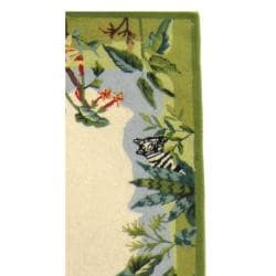 Safavieh Hand-hooked Chelsea Jungle Beige Wool Rug (2'6 x 8')