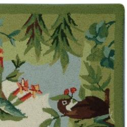 Safavieh Hand-hooked Chelsea Jungle Beige Wool Rug (2'9 x 4'9)