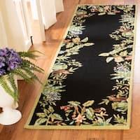 Safavieh Hand-hooked Chelsea Jungle Black Wool Rug - 2'6 x 6'