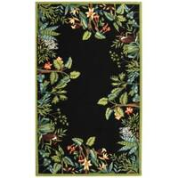 Safavieh Large Hand-Hooked Chelsea Jungle Black Wool Rug - 8'9' x 11'9'
