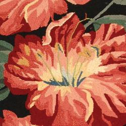 Safavieh Hand-hooked Chelsea Botanical Black Wool Rug (2'6 x 12') - Thumbnail 2