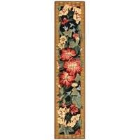 "Safavieh Hand-hooked Chelsea Botanical Black Wool Rug - 2'6"" x 12'"