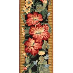 Safavieh Hand-hooked Chelsea Botanical Black Wool Rug (2'6 x 8')