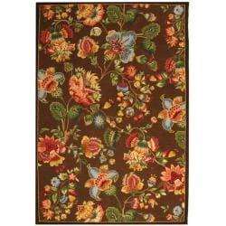 Safavieh Hand-hooked Chelsea Eden Brown Wool Rug - 7'6 x 9'9 - Thumbnail 0