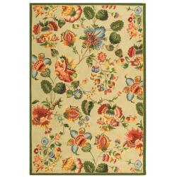 Safavieh Hand-hooked Chelsea Eden Sage Wool Rug - 7'6 x 9'9 - Thumbnail 0