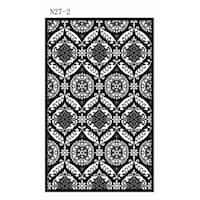 """Safavieh Hand-hooked Chelsea Heritage Black Wool Rug - 3'-9"""" x 5'-9"""""""