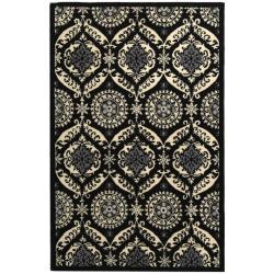 Safavieh Hand-hooked Chelsea Heritage Black Wool Rug (7'6 x 9'9)