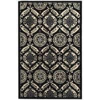 Safavieh Hand-hooked Chelsea Heritage Black Wool Rug - 7'6 x 9'9