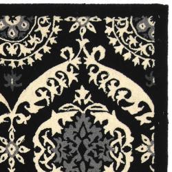 Safavieh Hand-hooked Chelsea Heritage Black Wool Rug (8'9 x 11'9) - Thumbnail 1