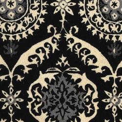 Safavieh Hand-hooked Chelsea Heritage Black Wool Rug (8'9 x 11'9) - Thumbnail 2
