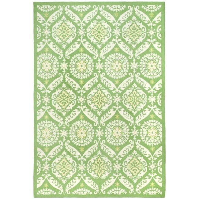 Safavieh Hand-hooked Chelsea Heritage Green Wool Rug - 7'6 x 9'9