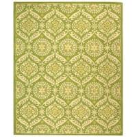 """Safavieh Hand-hooked Chelsea Heritage Green Wool Rug - 7'-9"""" X 9'-9"""""""