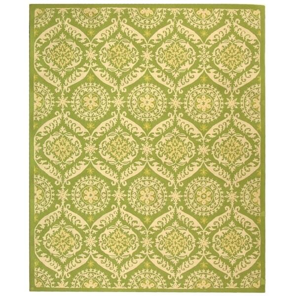 """Safavieh Hand-hooked Chelsea Heritage Green Wool Rug - 8'9"""" x 11'9"""""""