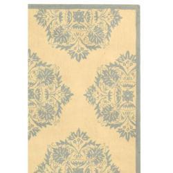 Safavieh Hand-Hooked Geometric Chelsea Ivory Wool Rug (3'9 x 5'9) - Thumbnail 1