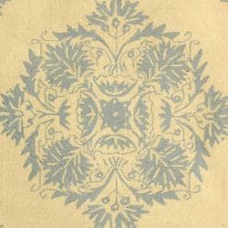 Safavieh Hand-Hooked Geometric Chelsea Ivory Wool Rug (3'9 x 5'9) - Thumbnail 2