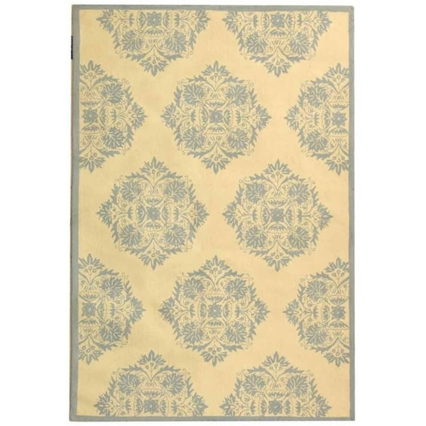 "Safavieh Hand-Hooked Chelsea Ivory Cotton-Canvas Wool Rug - 7'9"" x 9'9"""