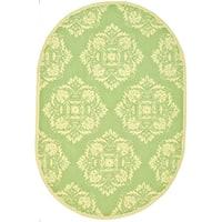 "Safavieh Hand-hooked Chelsea Green Wool Rug - 4'6"" x 6'6"" oval"