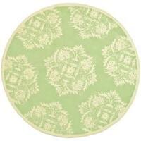 Safavieh Hand-hooked Chelsea Green Wool Rug - 3' x 3' round