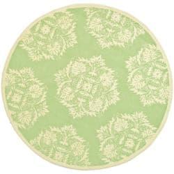 Safavieh Hand-hooked Chelsea Green Wool Rug (8' Round)