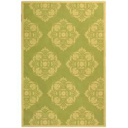 Safavieh Hand-Hooked Chelsea Green Wool Area Rug - 7'6' x 9'9' - Thumbnail 0