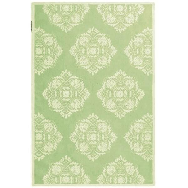 "Safavieh Hand-Hooked Chelsea Green Wool Area Rug - 7'9"" x 9'9"""