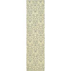 Safavieh Hand-hooked Chelsea Damask Beige Wool Rug (2'6 x 6')