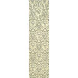 Safavieh Hand-hooked Chelsea Damask Beige Wool Rug (2'6 x 8')