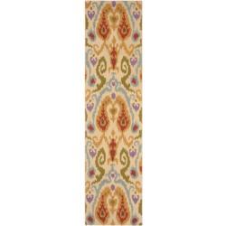 Safavieh Hand-hooked Chelsea Ivory Wool Rug (2'6 x 10')