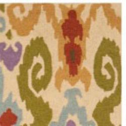 Safavieh Hand-hooked Chelsea Ivory Wool Rug (7'6 x 9'9) - Thumbnail 1