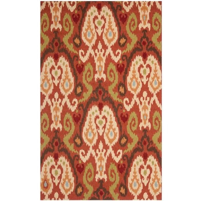 Safavieh Hand-hooked Chelsea Rust Wool Rug (5'3 x 8'3)