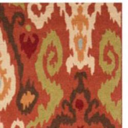 Safavieh Hand-hooked Chelsea Rust Wool Rug (5'3 x 8'3) - Thumbnail 1